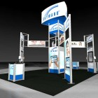 Custom Modular Rental Exhibit rendering