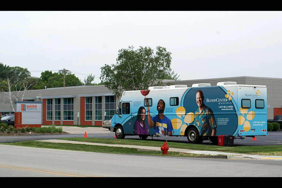 Exhibit Systems hosts blood drive