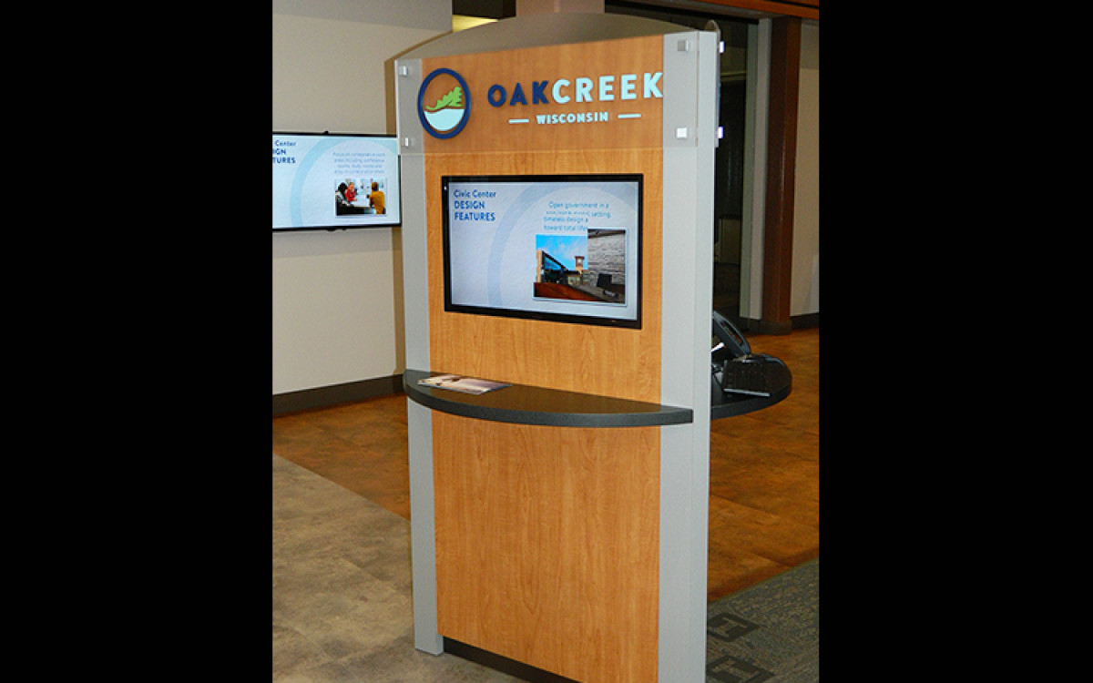 City of Oak Creek custom kiosk 4
