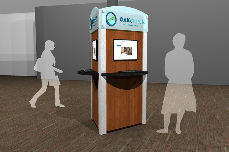 City of Oak Creek custom kiosk rendering 2