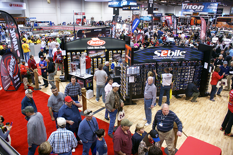 Birdseye view of active tradeshow