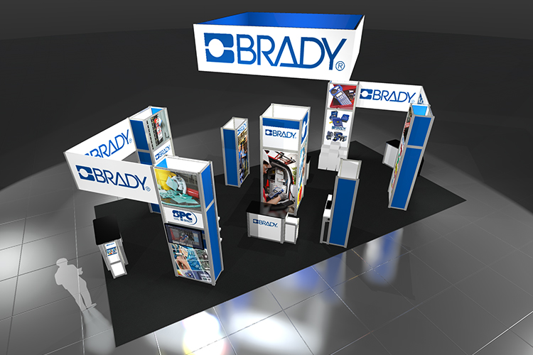 Brady Custom Modular Display rendering 2