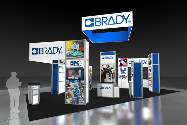 Brady Custom Modular Display rendering