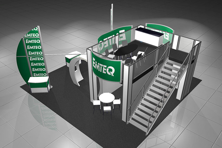 Emteq Custom Modular Exhibit rendering