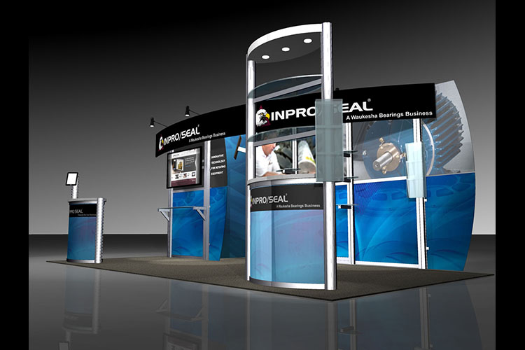 InPro Seal custom booth rendering