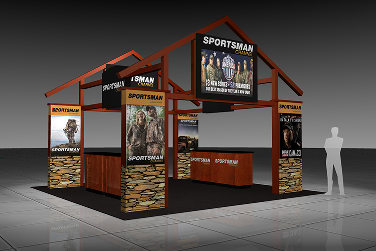 Sportsman custom booth rendering