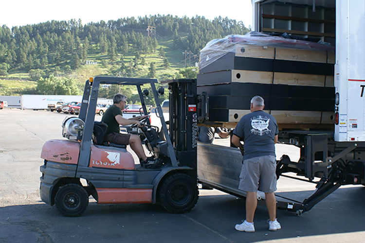 Exhibit Logistics loading a truck