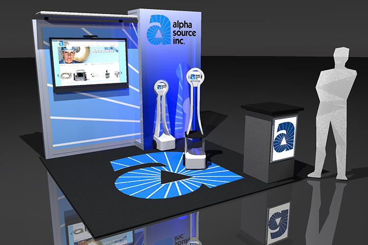 Nimlok Portable Exhibition Stand : Custom portable trade show displays easy set up displays