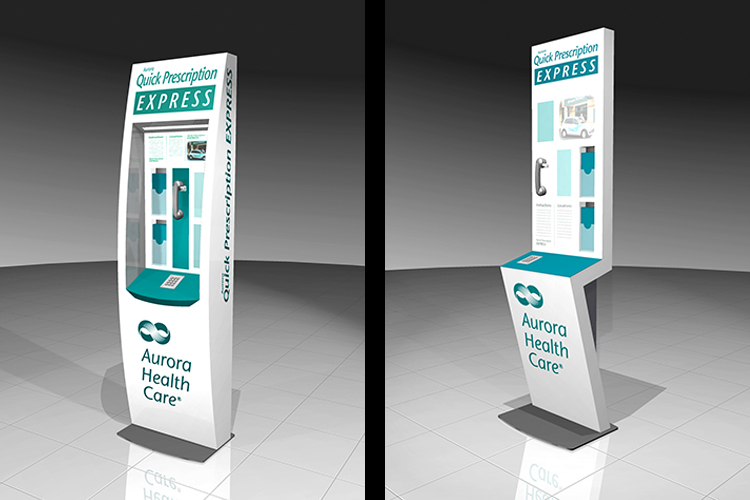 Aurora Health Care Kiosk Rendering