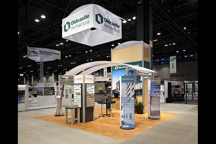 Oldcastle custom exhibit booth