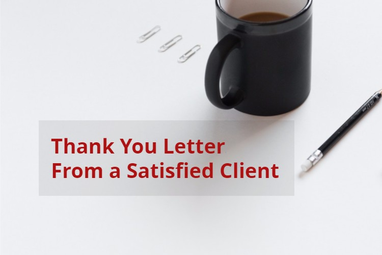 Thank You Letter From a Satisfied Client