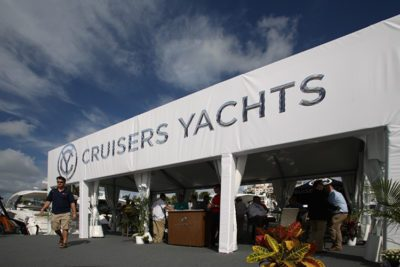 Cruisers Yachts at the Fort Lauderdale Boat Show