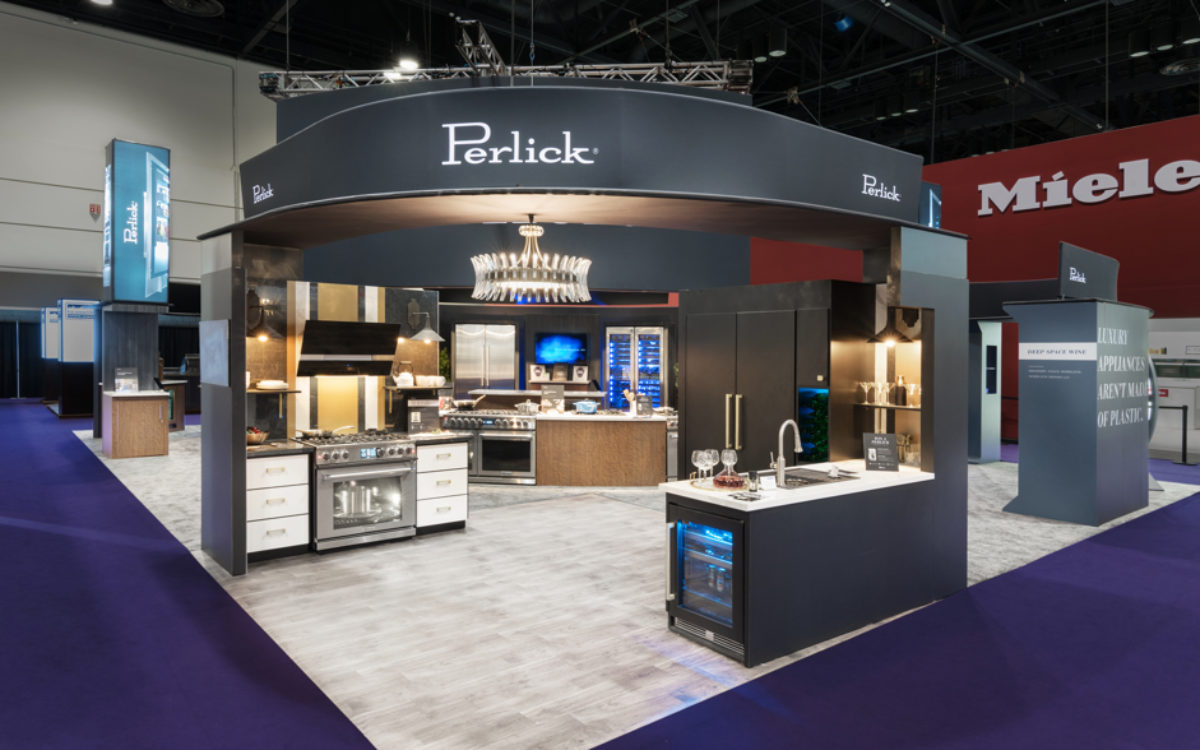 Perlick custom-built trade show exhibit