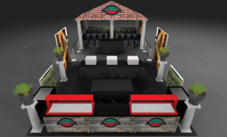 Palermo's Pizza Custom Trade Show Booth