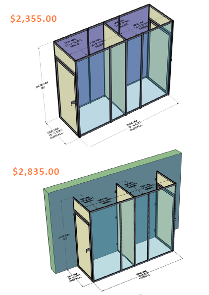 Temporary Quarantine Rooms Configurations and Pricing