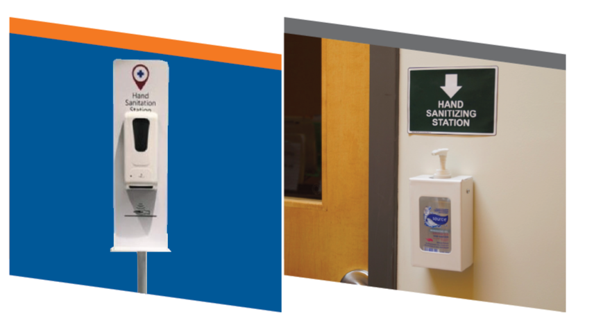 COVID-19 Safety Products: Hand Sanitizer Stations